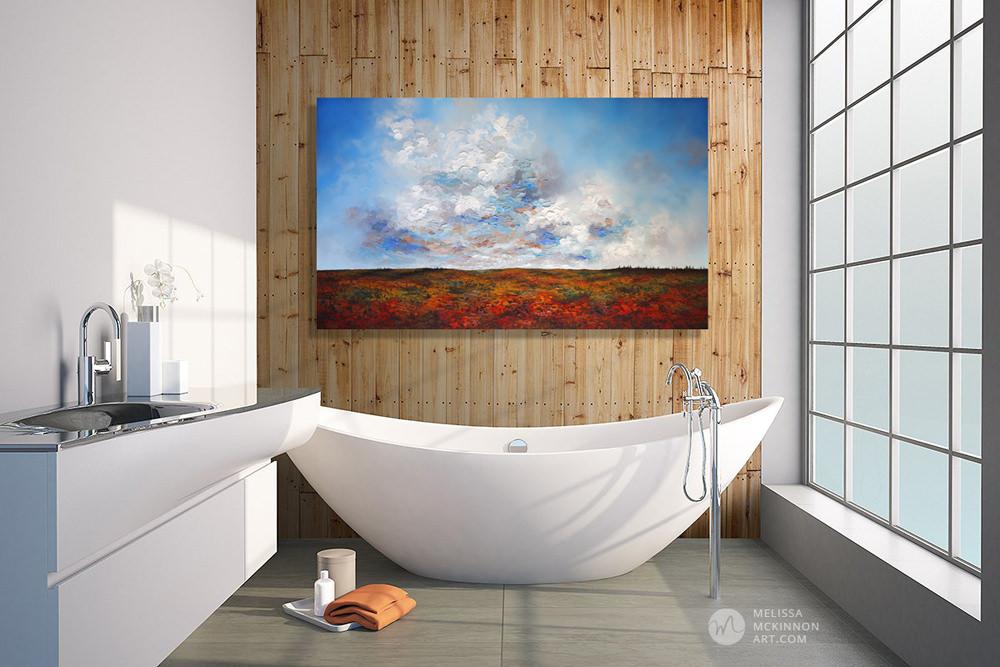 Autumn Sky 60 X 36 Melissa Mckinnon Art