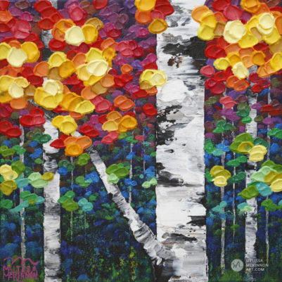 Acrylic Landscape Painting of Aspen Trees and Birch Trees Forest by Abstract Landscape Artist Melissa McKinnon Autumn Jewel III, tree paintings, landscape paintings, birch trees, aspen trees, treescape, tree paintings on canvas, birch tree art, tree of life painting, birch tree canvas, aspen tree paintings, tree art, aspens, birches, art print, prints on canvas, giclee prints, acrylic paintings, oil paintings, paintings with texture, tree of life, nature painting, scenery painting, abstract art, contemporary art, modern art, abstract painting, modern paintings, art gallery, art galleries, online art gallery, art for sale, paintings for sale, wall painting, wall art, wall decor, home decor, living room painting, abstract landscape painting, abstract landscape, landscape artist, forest paintings, birch tree painting, forest paintings, fall painting, autumn painting, American art, american artist, Canadian art, colourful art, living room art, bedroom decor, bedroom painting, kitchen decor, kitchen painting, kitchen art, bedroom art, fine art, painting, picture art, original art, original paintings, large paintings, Canadian paintings, American paintings, interiors, interior decorating, interior design, interior designer, home decor ideas, interior design ideas, living room ideas, home interior design, house decoration, Melissa McKinnon art, Melissa McKinnon paintings,