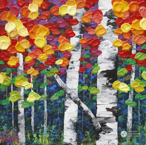 Colourful Tree painting of aspen trees and birch trees art painting by contemporary abstract landscape artist painter Melissa McKinnon Autumn Jewel I, tree paintings, landscape paintings, birch trees, aspen trees, treescape, tree paintings on canvas, birch tree art, tree of life painting, birch tree canvas, aspen tree paintings, tree art, aspens, birches, art print, prints on canvas, giclee prints, acrylic paintings, oil paintings, paintings with texture, tree of life, nature painting, scenery painting, abstract art, contemporary art, modern art, abstract painting, modern paintings, art gallery, art galleries, online art gallery, art for sale, paintings for sale, wall painting, wall art, wall decor, home decor, living room painting, abstract landscape painting, abstract landscape, landscape artist, forest paintings, birch tree painting, forest paintings, fall painting, autumn painting, American art, american artist, Canadian art, colourful art, living room art, bedroom decor, bedroom painting, kitchen decor, kitchen painting, kitchen art, bedroom art, fine art, painting, picture art, original art, original paintings, large paintings, Canadian paintings, American paintings, interiors, interior decorating, interior design, interior designer, home decor ideas, interior design ideas, living room ideas, home interior design, house decoration, Melissa McKinnon art, Melissa McKinnon paintings,