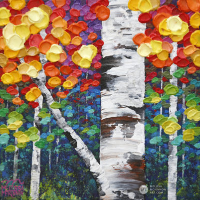 Acrylic painting of autumn birch trees and aspen tree art by Canadian abstract tree artist painter Melissa McKinnon Canadian Autumn 14, tree paintings, landscape paintings, birch trees, aspen trees, treescape, tree paintings on canvas, birch tree art, tree of life painting, birch tree canvas, aspen tree paintings, tree art, aspens, birches, art print, prints on canvas, giclee prints, acrylic paintings, oil paintings, paintings with texture, tree of life, nature painting, scenery painting, abstract art, contemporary art, modern art, abstract painting, modern paintings, art gallery, art galleries, online art gallery, art for sale, paintings for sale, wall painting, wall art, wall decor, home decor, living room painting, abstract landscape painting, abstract landscape, landscape artist, forest paintings, birch tree painting, forest paintings, fall painting, autumn painting, American art, american artist, Canadian art, colourful art, living room art, bedroom decor, bedroom painting, kitchen decor, kitchen painting, kitchen art, bedroom art, fine art, painting, picture art, original art, original paintings, large paintings, Canadian paintings, American paintings, interiors, interior decorating, interior design, interior designer, home decor ideas, interior design ideas, living room ideas, home interior design, house decoration, Melissa McKinnon art, Melissa McKinnon paintings,
