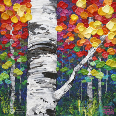 Acrylic Landscape Painting of Aspen Trees and Birch Trees Forest by Abstract Landscape Artist Melissa McKinnon Canadian Autumn 15, tree paintings, landscape paintings, birch trees, aspen trees, treescape, tree paintings on canvas, birch tree art, tree of life painting, birch tree canvas, aspen tree paintings, tree art, aspens, birches, art print, prints on canvas, giclee prints, acrylic paintings, oil paintings, paintings with texture, tree of life, nature painting, scenery painting, abstract art, contemporary art, modern art, abstract painting, modern paintings, art gallery, art galleries, online art gallery, art for sale, paintings for sale, wall painting, wall art, wall decor, home decor, living room painting, abstract landscape painting, abstract landscape, landscape artist, forest paintings, birch tree painting, forest paintings, fall painting, autumn painting, American art, american artist, Canadian art, colourful art, living room art, bedroom decor, bedroom painting, kitchen decor, kitchen painting, kitchen art, bedroom art, fine art, painting, picture art, original art, original paintings, large paintings, Canadian paintings, American paintings, interiors, interior decorating, interior design, interior designer, home decor ideas, interior design ideas, living room ideas, home interior design, house decoration, Melissa McKinnon art, Melissa McKinnon paintings,