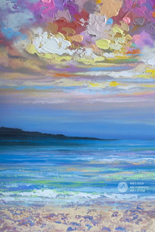 Abstract Seascape Painting of ocean beach and sunset sky by Modern Abstract Artist Melissa McKinnon Artist Colourbration, paintings of skies, sky paintings, paintings of clouds, cloud art, sunset paintings, sunrise paintings, blue sky painting, sky art, clouds, cloud painting, sunset art, sunrise painting, sunrise art, sunset sky painting, colorful sky, sunset sky, landscape paintings, landscapes, landscape art, acrylic paintings, oil paintings, paintings with texture, nature painting, scenery painting, art print, prints on canvas, giclee prints, abstract art, contemporary art, modern art, abstract painting, modern paintings, art gallery, art galleries, online art gallery, art for sale, paintings for sale, wall painting, wall art, wall decor, home decor, living room painting, abstract landscape painting, abstract landscape, landscape artist, American art, american artist, Canadian art, colourful art, living room art, bedroom decor, bedroom painting, kitchen decor, kitchen painting, kitchen art, bedroom art, fine art, painting, picture art, original art, original paintings, large paintings, Canadian paintings, American paintings, interiors, interior decorating, interior design, interior designer, home decor ideas, interior design ideas, living room ideas, home interior design, house decoration, Melissa McKinnon art, Melissa McKinnon paintings,