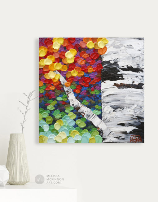 Abstract Landscape painting of aspen trees and birch trees art painting by contemporary abstract landscape artist painter Melissa McKinnon Jewel Trees 8, tree paintings, landscape paintings, birch trees, aspen trees, treescape, tree paintings on canvas, birch tree art, tree of life painting, birch tree canvas, aspen tree paintings, tree art, aspens, birches, art print, prints on canvas, giclee prints, acrylic paintings, oil paintings, paintings with texture, tree of life, nature painting, scenery painting, abstract art, contemporary art, modern art, abstract painting, modern paintings, art gallery, art galleries, online art gallery, art for sale, paintings for sale, wall painting, wall art, wall decor, home decor, living room painting, abstract landscape painting, abstract landscape, landscape artist, forest paintings, birch tree painting, forest paintings, fall painting, autumn painting, American art, american artist, Canadian art, colourful art, living room art, bedroom decor, bedroom painting, kitchen decor, kitchen painting, kitchen art, bedroom art, fine art, painting, picture art, original art, original paintings, large paintings, Canadian paintings, American paintings, interiors, interior decorating, interior design, interior designer, home decor ideas, interior design ideas, living room ideas, home interior design, house decoration, Melissa McKinnon art, Melissa McKinnon paintings,
