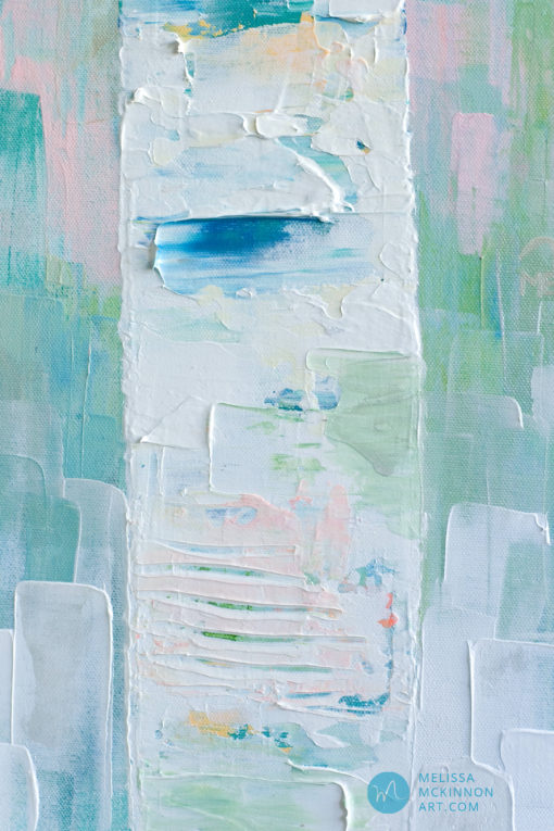 Pastel Landscape painting of abstract trees by modern abstract landscape artist Melissa McKinnon My Dream For You,