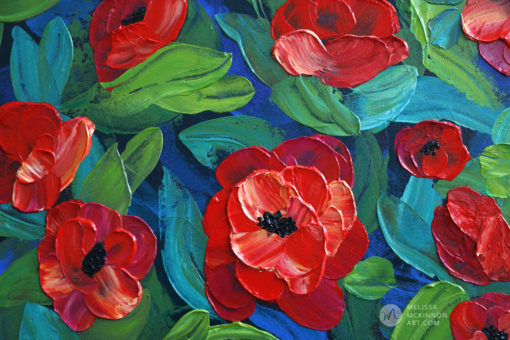 Abstract Flower painting of red poppy flower field floral bouquet by Canadian artist Melissa McKinnon, flower painting; paintings of flowers, paintings of red flowers, paintings of poppies, flower art; floral painting; floral art; flower arrangement; paintings of flower bouquet; floral bouquet; poppy flowers; poppies; red poppies; abstract flower painting; abstract floral painting; painting of field of flowers, painting of wildflowers, landscape painting; landscape art; landscape artists; abstract landscape painting; abstract landscape; scenery paintings; paintings of nature; nature paintings; nature art; landscape oil paintings; landscape acrylic paintings; original art; original paintings; oil paintings; acrylic paintings; paintings gallery; canvas painting; beautiful landscape paintings; western art;  western paintings; modern artist paintings; art gallery; Contemporary Artist;  contemporary painting;  original art; original paintings; oil paintings; oil paintings for sale; acrylic paintings;  paintings with texture; impasto painting;  Canadian artist; Canadian art; Canadian paintings; American artist; American artist; American paintings;  large paintings; big paintings; large canvas paintings; large wall paintings; contemporary landscape painting; Contemporary painting; colourful painting; paintings for sale; canvas wall art; wall art canvas; canvas art; wall art decor; bedroom wall decor; bathroom wall decor; living room wall decor; kitchen wall decor; interiors; interior decorating; interior design; interior designer; home decor ideas; interior design ideas; living room ideas; home interior design; house decoration; Melissa McKinnon art; Melissa McKinnon paintings; Melissa McKinnon art.