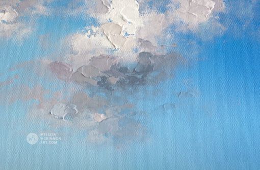 Landscape painting print of abstract blue sky and white and grey clouds by Contemporary Landscape Artist Painter Melissa McKinnon, sky painting, landscape painting; landscape art; landscape artists; abstract landscape painting; abstract landscape; contemporary art; modern art paintings; scenery paintings; paintings of nature; nature paintings; nature art; landscape oil paintings; landscape acrylic paintings; cloud painting; cloud art; sky painting; sky art; sunset painting; sunset art; sunrise painting; sunrise art; mountain painting; mountain art; sea painting; sea art; beach painting; beach art; ocean painting; ocean art; lake painting; lake art; prairie painting; prairie art; seascape; original art; original paintings; oil paintings; acrylic paintings; paintings gallery; canvas painting; beautiful landscape paintings; western art; western paintings; modern artist paintings; art gallery; Contemporary Artist; contemporary painting; original art; original paintings; oil paintings; oil paintings for sale; acrylic paintings; paintings with texture; impasto painting; Canadian artist; Canadian art; Canadian paintings; American artist; American artist; American paintings; large paintings; big paintings; large canvas paintings; large wall paintings; contemporary landscape painting; Contemporary painting; colourful painting; paintings for sale; canvas wall art; wall art canvas; canvas art; wall art decor; bedroom wall decor; bathroom wall decor; living room wall decor; kitchen wall decor; interiors; interior decorating; interior design; interior designer; home decor ideas; interior design ideas; living room ideas; home interior design; house decoration; Melissa McKinnon art; Melissa McKinnon paintings; Melissa McKinnon art.