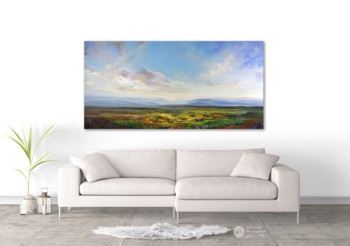 Colourful landscape painting of mountains wildflower prairie field and cloudy sunset sky giclee art print by contemporary artist painter Melissa McKinnon  landscape paintings, landscape art, art prints of landscapes, giclee print on canvas, prairie painting, prairie art, art prints of prairie field, wild flowers, art prints of mountains, mountain paintings, mountain art, rocky mountains, mountain view, mountain range, acrylic paintings, oil paintings, paintings with texture, nature painting, scenery painting, art print, prints on canvas, giclee prints, landscapes, abstract art, contemporary art, modern art, abstract painting, modern paintings, art gallery, art galleries, online art gallery, art for sale, paintings for sale, wall painting, wall art, wall decor, home decor, living room painting, abstract landscape painting, abstract landscape, landscape artist, American art, american artist, Canadian art, colourful art, living room art, bedroom decor, bedroom painting, kitchen decor, kitchen painting, kitchen art, bedroom art, fine art, painting, picture art, original art, original paintings, large paintings, Canadian paintings, American paintings, interiors, interior decorating, interior design, interior designer, home decor ideas, interior design ideas, living room ideas, home interior design, house decoration, Melissa McKinnon art, Melissa McKinnon paintings,