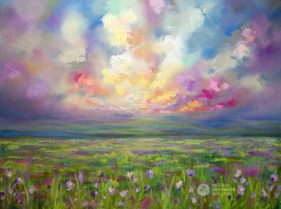 Landscape painting of sunset sky with clouds mountains and wildflower prairie field giclee art print by modern artist painter Melissa McKinnon, landscape paintings, landscapes, landscape art, acrylic paintings, oil paintings, paintings with texture, nature painting, scenery painting, art print, prints on canvas, giclee prints, art prints of nature, art prints of landscapes, giclee print on canvas, abstract art, contemporary art, modern art, abstract painting, modern paintings, art gallery, art galleries, online art gallery, art for sale, paintings for sale, wall painting, wall art, wall decor, home decor, living room painting, abstract landscape painting, abstract landscape, landscape artist, American art, american artist, Canadian art, colourful art, living room art, bedroom decor, bedroom painting, kitchen decor, kitchen painting, kitchen art, bedroom art, fine art, painting, picture art, original art, original paintings, large paintings, Canadian paintings, American paintings, interiors, interior decorating, interior design, interior designer, home decor ideas, interior design ideas, living room ideas, home interior design, house decoration, Melissa McKinnon art, Melissa McKinnon paintings,