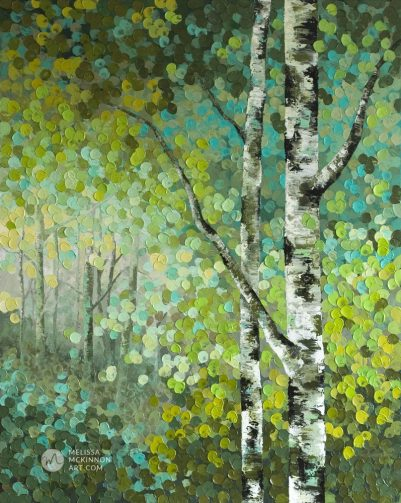 Abstract tree landscape nature painting of aspen trees and birch trees giclee art print on canvas by contemporary abstract landscape artist painter Melissa McKinnon 'Little Seeds', tree paintings, tree art, landscape paintings, tree paintings on canvas, nature art, scenery painting,  birch tree art, tree of life painting, birch tree canvas, aspen tree paintings, birch tree paintings, nature paintings, tree art, art prints of trees, art prints of nature, giclee print on canvas, abstract landscape painting, birch trees, aspen trees, treescape, aspen tree art, aspens, birches, art print, prints on canvas, giclee prints, acrylic paintings, oil paintings, paintings with texture, tree of life, abstract landscape, landscape artist, forest paintings, birch tree painting, forest paintings, fall painting, autumn painting, abstract art, contemporary art, modern art, abstract painting, modern paintings, art gallery, art galleries, online art gallery, art for sale, paintings for sale, wall painting, wall art, wall decor, home decor, living room painting, American art, american artist, Canadian art, colourful art, living room art, bedroom decor, bedroom painting, kitchen decor, kitchen painting, kitchen art, bedroom art, fine art, painting, picture art, original art, original paintings, large paintings, Canadian paintings, American paintings, interiors, interior decorating, interior design, interior designer, home decor ideas, interior design ideas, living room ideas, home interior design, house decoration, Melissa McKinnon art, Melissa McKinnon paintings,