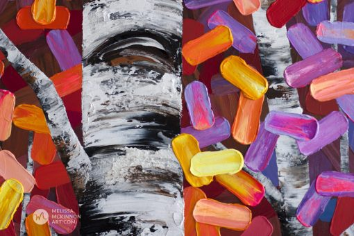 Abstract painting nature landscape aspens birch trees in autumn giclée art print on canvas by contemporary abstract landscape artist painter Melissa McKinnon 'The Ties That Bind Us', tree paintings, tree art, landscape paintings, tree paintings on canvas, nature art, scenery painting,  birch tree art, tree of life painting, birch tree canvas, aspen tree paintings, birch tree paintings, nature paintings, tree art, art prints of trees, art prints of nature, giclee print on canvas, abstract landscape painting, birch trees, aspen trees, treescape, aspen tree art, aspens, birches, art print, prints on canvas, giclee prints, acrylic paintings, oil paintings, paintings with texture, tree of life, abstract landscape, landscape artist, forest paintings, birch tree painting, forest paintings, fall painting, autumn painting, abstract art, contemporary art, modern art, abstract painting, modern paintings, art gallery, art galleries, online art gallery, art for sale, paintings for sale, wall painting, wall art, wall decor, home decor, living room painting, American art, american artist, Canadian art, colourful art, living room art, bedroom decor, bedroom painting, kitchen decor, kitchen painting, kitchen art, bedroom art, fine art, painting, picture art, original art, original paintings, large paintings, Canadian paintings, American paintings, interiors, interior decorating, interior design, interior designer, home decor ideas, interior design ideas, living room ideas, home interior design, house decoration, Melissa McKinnon art, Melissa McKinnon paintings,