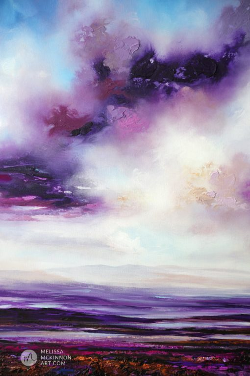 Ocean Landscape Painting of sunset sky by Abstract Landscape Artist Melissa McKinnon 'Under the Violet Sky', purple painting, landscape paintings, landscapes, landscape art, acrylic paintings, oil paintings, paintings with texture, nature painting, scenery painting, art print, prints on canvas, giclee prints, abstract art, contemporary art, modern art, abstract painting, modern paintings, art gallery, art galleries, online art gallery, art for sale, paintings for sale, wall painting, wall art, wall decor, home decor, living room painting, abstract landscape painting, abstract landscape, landscape artist, American art, american artist, Canadian art, colourful art, living room art, bedroom decor, bedroom painting, kitchen decor, kitchen painting, kitchen art, bedroom art, fine art, painting, picture art, original art, original paintings, large paintings, Canadian paintings, American paintings, interiors, interior decorating, interior design, interior designer, home decor ideas, interior design ideas, living room ideas, home interior design, house decoration, Melissa McKinnon art, Melissa McKinnon paintings,
