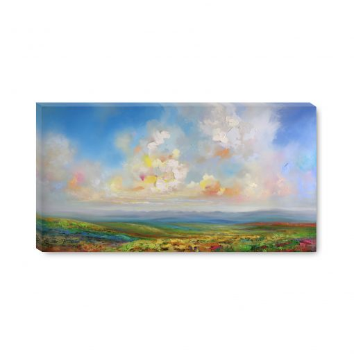 Art print on canvas Landscape Painting Fine Art Giclee Print of cloudy sunset sky mountains prairie wildflower field by landscape artist Melissa McKinnon 'Head In The Clouds', fine art, sea, seascape,Seascape paintings, ocean,ocean art, beach, beaches, beach art, Ocean paintings, beach paintings, sky paintings, paintings of clouds, sunset paintings, sunrise paintings, sky, clouds, sunset, sunrise, art, paintings, Contemporary Art, Landscape Painting, Wall art, interior design, design inspiration, home decor, interior designer, paintings for sale, Decor, Interior design ideas, interior design inspiration, Calgary interior designer, interior design Calgary, Home, design, decor inspiration, interior styling, modern home, style, interiors, modern decor, home inspiration, interior decorating, Art In The Home, art, wall art, wall decor, modern art,Calgary artist, Canadian artist, Alberta Landscape Painter, Contemporary Alberta Artist, Alberta Landscape Painting, Calgary paintings, Birch Tree Painting, Birch Tree Paintings, Aspen Tree Painting, Aspen Tree Paintings, Calgary Fine Art, Calgary, Alberta, Canada, Canadian Rocky Mountains, Banff, Canmore, Lake Louise, sky, prairies, mountain, mountains, lake, river, water, ocean, beach, playa, clouds, leaves, flowers, floral, abstract, Canada, Rockies, Art collector, artist to collect, original paintings, landscape paintings, oil paintings, acrylic paintings,tree paintings,paintings of trees, abstract paintings, abstract, modern, contemporary, fine art, art, art gallery,contemporary landscape painting, contemporary landscape artist, contemporary art, contemporary painting, aspen artist, Melissa Mckinnon, Aspen paintings, Aspen tree art, Aspen tree artist, Autumn Aspens, Autumn birches, Aspens, Autumn leaves, Birches, Big paintings, large paintings, impasto, thick paint, paintings with texture, palette knife, birch art, birch paintings, landscape painting commission, Painting Commission, Commission artist painter, custom painting, Aspen fine art, red art painting, aqua art painting, teal art painting, turquoise art painting, yellow art painting, green art painting, black and white art painting, f