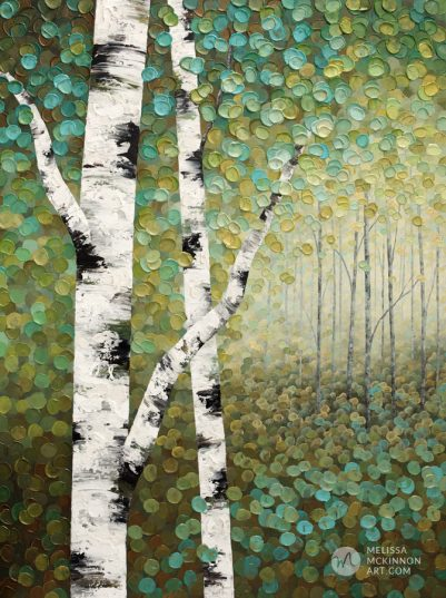 Abstract tree landscape nature painting of aspen trees and birch trees giclee art print on canvas by contemporary abstract landscape artist painter Melissa McKinnon 'Bathed In Golden Light', tree paintings, tree art, landscape paintings, tree paintings on canvas, nature art, scenery painting,  birch tree art, tree of life painting, birch tree canvas, aspen tree paintings, birch tree paintings, nature paintings, tree art, art prints of trees, art prints of nature, giclee print on canvas, abstract landscape painting, birch trees, aspen trees, treescape, aspen tree art, aspens, birches, art print, prints on canvas, giclee prints, acrylic paintings, oil paintings, paintings with texture, tree of life, abstract landscape, landscape artist, forest paintings, birch tree painting, forest paintings, fall painting, autumn painting, abstract art, contemporary art, modern art, abstract painting, modern paintings, art gallery, art galleries, online art gallery, art for sale, paintings for sale, wall painting, wall art, wall decor, home decor, living room painting, American art, american artist, Canadian art, colourful art, living room art, bedroom decor, bedroom painting, kitchen decor, kitchen painting, kitchen art, bedroom art, fine art, painting, picture art, original art, original paintings, large paintings, Canadian paintings, American paintings, interiors, interior decorating, interior design, interior designer, home decor ideas, interior design ideas, living room ideas, home interior design, house decoration, Melissa McKinnon art, Melissa McKinnon paintings,