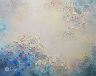 Abstract painting of clouds and sky Giclee art print on canvas by contemporary abstract artist Melissa McKinnon painted with palette knife and impasto texture - The Calm After the Storm